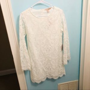 FOREVER 21 Ivory Lace Dress Size M